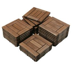 12x12'' Deck Patio Tiles Interlocking Wood Flooring Pave