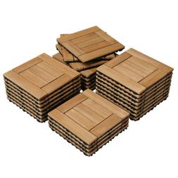 12x12'' Deck Patio Tiles Wood Interlocking Flooring Pave