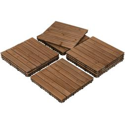 17.5x17.5'' Patio Deck Tiles Wood Flooring Pavers Tiles