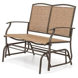 Best Choice Products 2-Person Patio Loveseat Glider Bench Ro