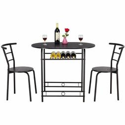 Giantex 3 PCS Dining Set Table and 2 Chairs Home Kitchen Bre