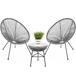 Best Choice Products 3-Piece All-Weather Patio Acapulco Bist