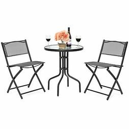 Best Choice Products 3-Piece Patio Bistro Dining Furniture S