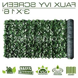 ColourTree 3' x 16' Artificial Hedges Faux Ivy Leaves Fence