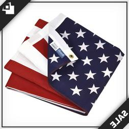 ✱ 3x5 ft Poly/Cotton American Flag with Brass Grommets -