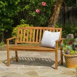 4 ft Outdoor Acacia Wood Garden Teak Bench Patio Furniture B