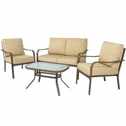 4-Piece Cushioned Patio Furniture Conversation Set w/ Lovese