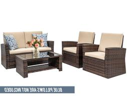 4 pieces outdoor patio furniture sets sectional