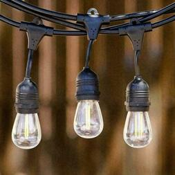 48Ft Outdoor String Lights Patio Vintage Garden Yard Commerc