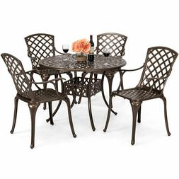 Best Choice Products 5-Piece All-Weather Cast Aluminum Patio
