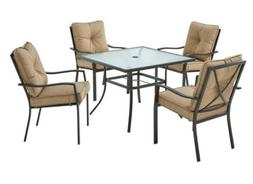 5 piece patio outdoor furniture sturdy steel