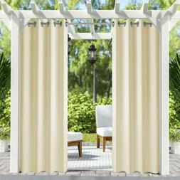 """50""""x84"""" Patio Outdoor/Indoor Curtains UV Privacy Drape Thick"""