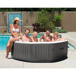 6-Person Inflatable Hot Tub Spa Portable Jacuzzi Patio Deck
