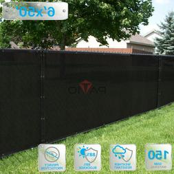 PATIO 6' x 50' Privacy Wind Screen Fence in Black Commercial