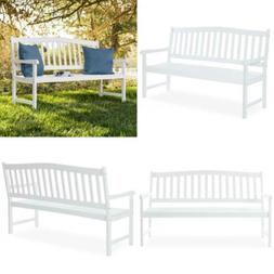 BCP 60in Classic Acacia Wood Outdoor Bench