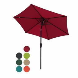 Patiorama 7.5 Feet Outdoor Patio Umbrella With Push-Button T
