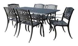 7-Pc Modern Patio Rectangular Dining Table Set