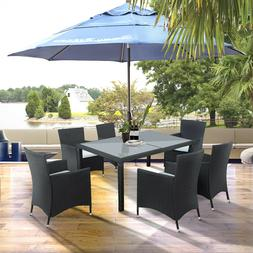 7 piece Outdoor Wicker Dining set Dining table set for 6 Pat