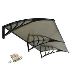 80''x 40'' Window Canopy Awning Polycarbonate Front Door Pat