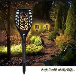 96 LED Solar Torch Light Flame Path Torches Dancing Beach Pa