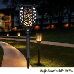 96 LED Solar Torch Light Flame Solar Path Torches Dancing Be