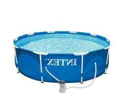 Above Ground Pool For Backyard Patio Filter Pump Round Swimm