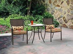 Alexandra Square 3-Piece Outdoor Bistro Set Red Stripe with