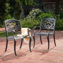 Augusta Outdoor Cast Aluminum Dining Chairs