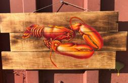 AWESOME LOBSTER AIR BRUSHED WALL ART ISLAND HOME DECOR TIKI