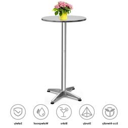 Bar Height Dining Table Pub Round Tall Folding Indoor Outdoo