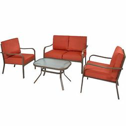 BCP 4-Piece Outdoor Patio Furniture Set w/ 2 Chairs, Lovesea