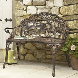 BCP Outdoor Patio Garden Bench Park Yard Furniture Cast Iron