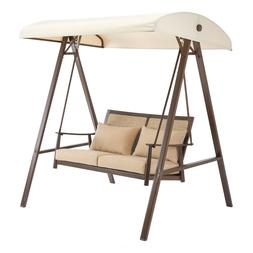 Better Homes & Gardens Vaughn Canopy Patio Swing with Beige