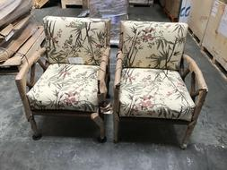 Brand New Patio Chairs/Wicker Chair Brown Pair