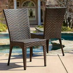 Christopher Knight Home Brooke Outdoor Wicker Chairs (Set of
