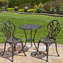 Best Choice Products Cast Aluminum Patio Bistro Furniture Se