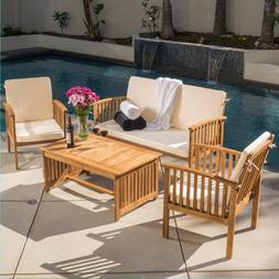 casual patio furniture wood stained