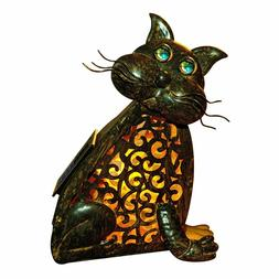 Cat Lamp 3D Solar Outdoor Decor LED Animal Light Patio Yard