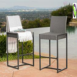 Conrad Patio Furniture Outdoor Wicker Bar Stools
