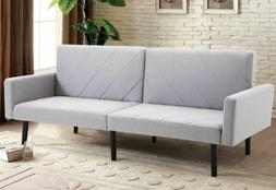 Convertible Recliner Sofa With Split-Back