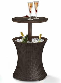 Keter 7.5-Gal Cool Bar Rattan Style Outdoor Patio Pool Coole