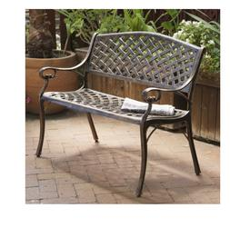 Christopher Knight Home Cozumel Copper Cast Aluminum Bench O