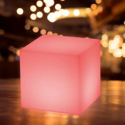 """16"""" Cube LED Color Light Stool Outdoor Indoor Patio Party Ya"""
