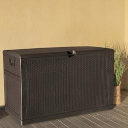 Outdoor Storage Deck Box Large Chest Bin Patio Garden 120-Ga