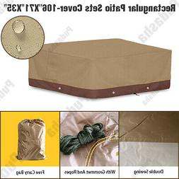 Deluxe Heavy Duty Waterproof Furniture Cover Rectangle Patio