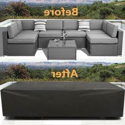 Durable Patio Furniture Cover Set 315x160x74cm Outdoor Loung