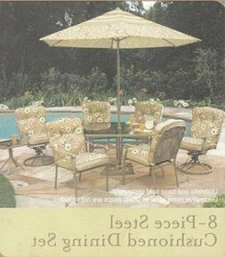 Elegant 8 Piece patio dining set by home trends