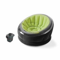Intex Empire Lime Green Inflatable Blow Up Lounge Dorm Campi
