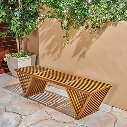 Esme Outdoor Acacia Wood Bench