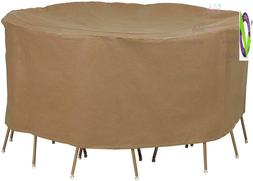 Duck Covers Essential Round Patio Table With Chairs Cover, 1